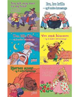 Pixi-serie Børnesange, 6 bøger