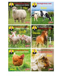 Pixi-serie Bondegårdens dyr med Sebastian Klein, 6 bøger
