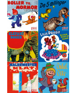 Pixi-serie Klassikere, 6 bøger