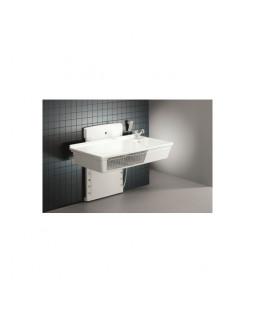Puslebord 800 x 1400 mm med håndbruser