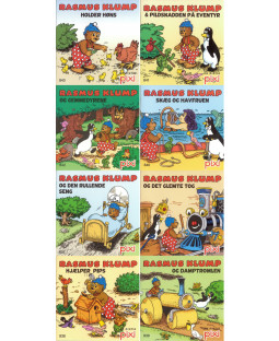 Pixi-serie Rasmus Klump, 8 bøger