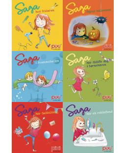 Pixi-Serie Saga på eventyr, 6 bøger