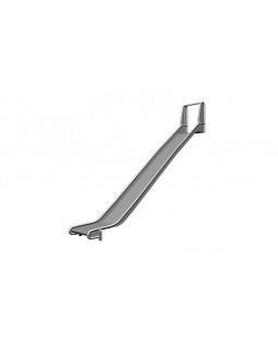 Rustfri rutschebane H=175-200 cm