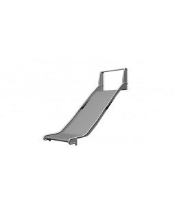 Rustfri rutschebane H=125-150 cm