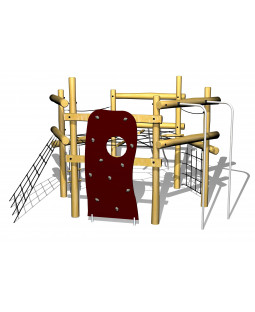 Robinia 6 kant klatresystem